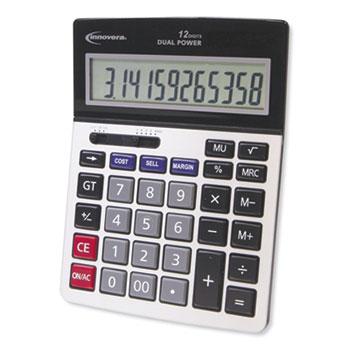 Innovera® 15968 Profit Analyzer Calculator, Dual Power, 12-Digit LCD Display