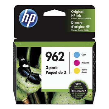 962 Ink Cartridges - Cyan, Magenta, Yellow, 3 Cartridges (3YP00AN)