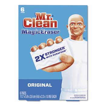"""Mr. Clean® Magic Eraser Foam Pad, 2 3/10"""" x 4 3/5"""", White, 6/Box"""