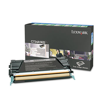Lexmark™ C734A1KG Toner, Return Program, 8000 Page-Yield, Black
