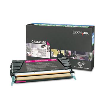 Lexmark™ C734A1MG Toner, Return Program, 6000 Page-Yield, Magenta