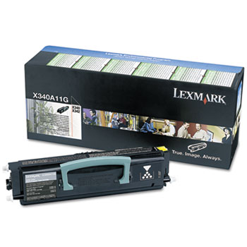 Lexmark™ X340A11G Toner, 2,500 Page-Yield, Black
