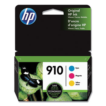910 Ink Cartridges - Cyan, Magenta, Yellow, 3 Cartridges (3YN97AN)