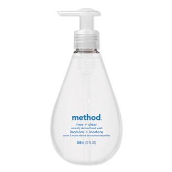 Method® Gel Hand Wash, Free of Dyes & Perfume, 12 oz. Pump Bottle