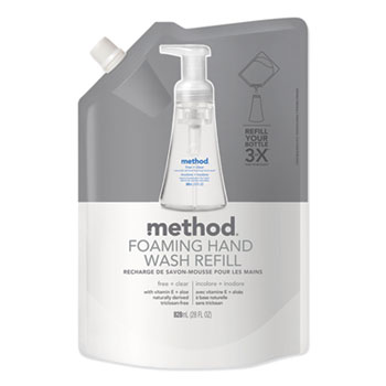 Method® Foaming Hand Wash Refill, Free + Clear, 28 fl. oz. Pouch