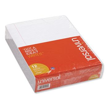 Glue Top Pads, Narrow Rule, 8.5 x 11, White, 50 Sheets, Dozen