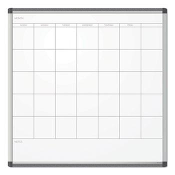 U Brands PINIT Magnetic Dry Erase Undated One Month Calendar, 36 x 36, White