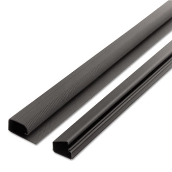 Cord Away® 1-1/2 Locking Channel, Black, 1/Pack