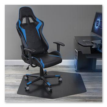 ES Robbins® Game Zone Chair Mat, For Hard Floor/Medium Pile Carpet, 42 x 46, Black