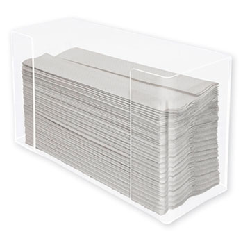 Multifold Paper Towel Dispenser, Acrylic, 12.5 x 4.4 x 7, Clear