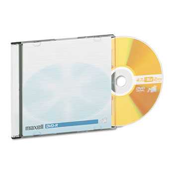 Maxell® DVD-R Discs, 4.7GB, 16x, w/Jewel Cases, Gold, 10/Pack