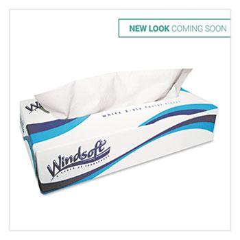 Facial Tissue, 2 Ply, White, Flat Pop-Up Box, 100 Sheets/Box, 30 Boxes/Carton