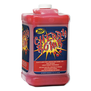 Cherry Bomb Hand Cleaner, Cherry Scent, 1 gal Bottle, 4/Carton