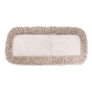 Boardwalk® Industrial Dust Mop Head, Hygrade Cotton, 18w x 5d, White
