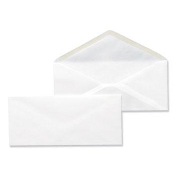 Business Envelope, #10, Monarch Flap, Gummed Closure, 4.13 x 9.5, White, 500/Box