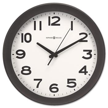"Kenwick Wall Clock, 13-1/2"", Black"