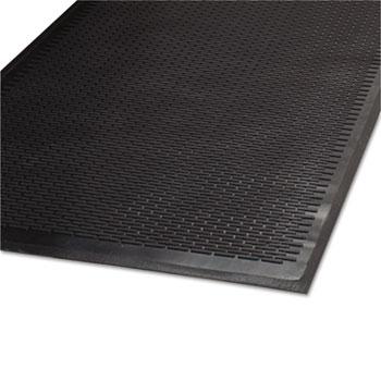 Guardian Clean Step Outdoor Rubber Scraper Mat, Polypropylene, 36 x 60, Black