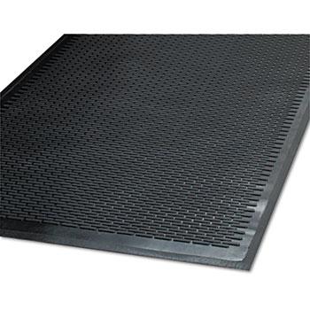 Guardian Clean Step Outdoor Rubber Scraper Mat, Polypropylene, 48 x 72, Black