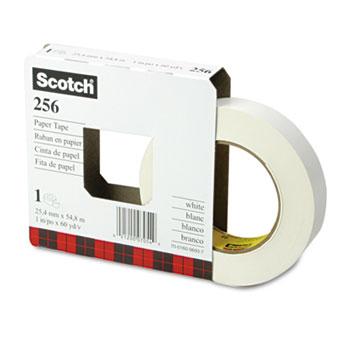 "Scotch™ 256 Printable Flatback Paper Tape, 1"" x 60yds, 3"" Core"