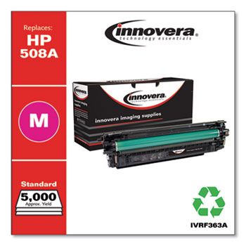 Remanufactured Magenta Toner, Replacement for HP 508A (CF363A), 5,000 Page-Yield