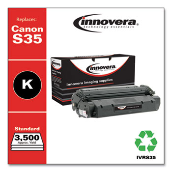 Innovera® Remanufactured Black Toner, Replacement for Canon S35 (7833A001AA), 3,500 Page-Yield