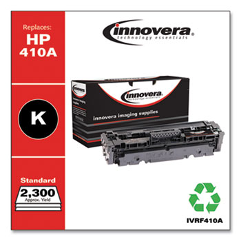 Innovera® Remanufactured Black Toner, Replacement for HP 410A (CF410A), 2,300 Page-Yield