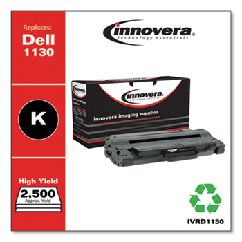 Remanufactured Black Toner Cartridge, Replacement for Dell 1130 (330-9523), 2,500 Page-Yield