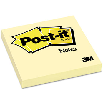 Notes Original Pads in Canary Yellow, 3 x 3, 100 Sheets