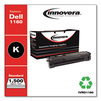 Innovera® Remanufactured Black Toner, Replacement for Dell B1160 (331-7335), 1,500 Page-Yield