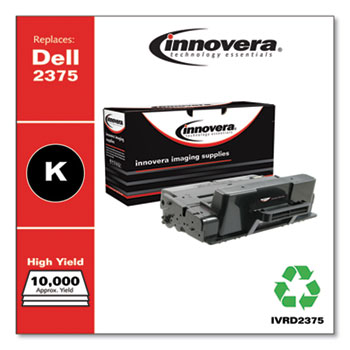 Innovera® Remanufactured Black Toner, Replacement for Dell D2375 (593-BBBJ 8PTH4), 10,000 Page-Yield