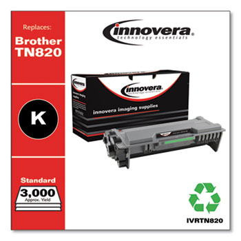 Innovera® Remanufactured Black Toner, Replacement for Brother TN820, 3,000 Page-Yield