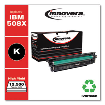 Remanufactured Black High-Yield Toner, Replacement for HP 508X (CF360X), 12,500 Page-Yield