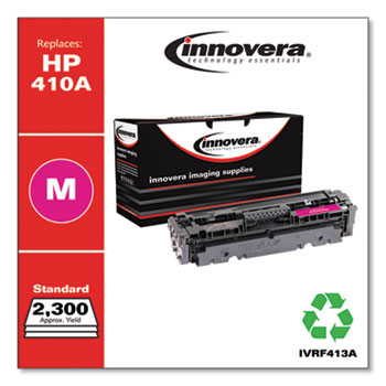 Remanufactured Magenta Toner, Replacement for HP 410A (CF413A), 2,300 Page-Yield