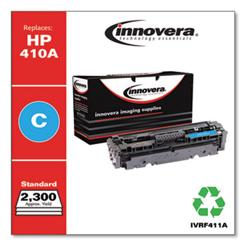 Innovera® Remanufactured Cyan Toner, Replacement for HP 410A (CF411A), 2,300 Page-Yield