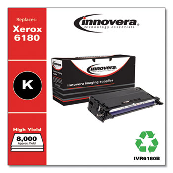 Remanufactured Black High-Yield Toner, Replacement for Xerox 6180 (113R00726), 8,000 Page-Yield