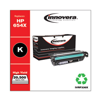Remanufactured Black High-Yield Toner Cartridge, Replacement for HP 654X (CF330X), 20,500 Page-Yield