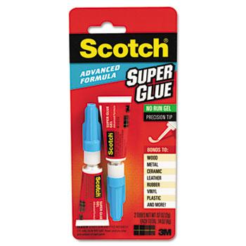 Scotch™ Single Use Super Glue, 1/2 Gram Tube, Gel, 2/Pack