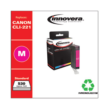 Remanufactured Magenta Ink, Replacement For Canon CLI-221M (2948B001), 530 Page Yield