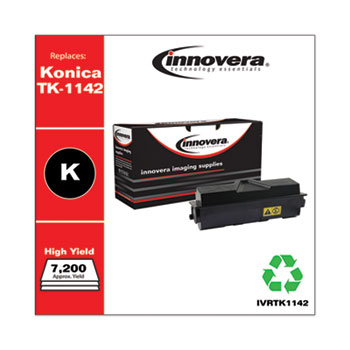 Remanufactured Black High-Yield Toner, Replacement for Kyocera TK-1142, 7,200 Page-Yield