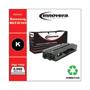 Innovera® Remanufactured Black High-Yield Toner, Replacement for Samsung MLT-103 (MLT-D103L), 2,500 Page-Yield