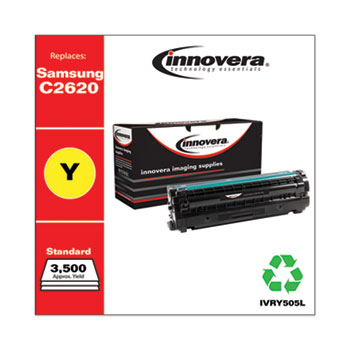 Innovera® Remanufactured Yellow High-Yield Toner, Replacement for Samsung CLT-Y505L (SU514A), 3,500 Page-Yield