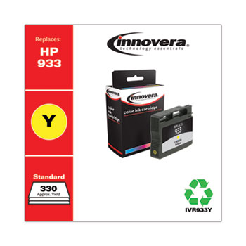 Innovera® Remanufactured Yellow Ink, Replacement for HP 933 (CN060A), 330 Page-Yield