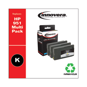 Innovera® Remanufactured Cyan/Magenta/Yellow Ink, Replacement for HP 951 (CN050AN/CN051AN/CN052AN), 700 Page-Yield