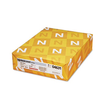Neenah Paper Classic Crest Stationery Writing Paper, 24-lb., 8-1/2 x 11, Solar White, 500/Rm