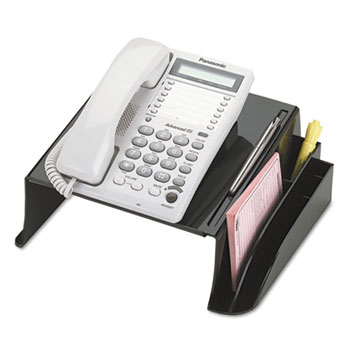 """Officemate 2200 Series Telephone Stand, 12 1/4""""w x 10 1/2""""d x 5 1/4""""h, Black"""