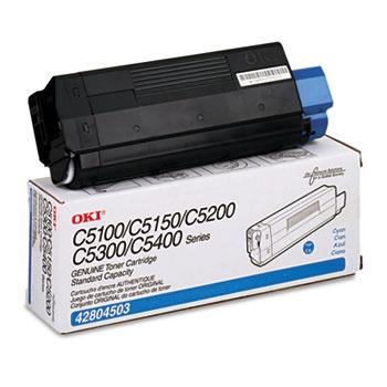 Oki® 42804503 Toner (Type C6), 3000 Page-Yield, Cyan