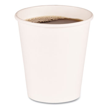 Boardwalk® Paper Hot Cups, 10 oz, White, 20 Cups/Sleeve, 50 Sleeves/Carton
