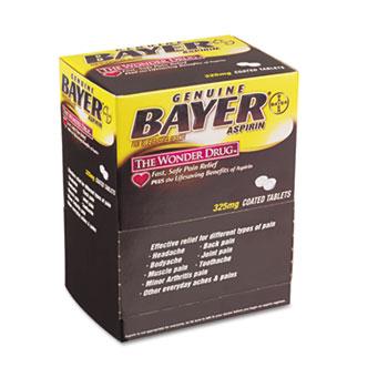 Bayer® Aspirin Tablets, 50 Packs/Box