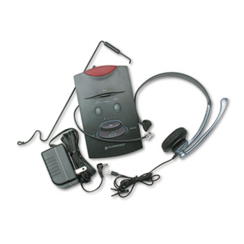 Plantronics® S11 System Over-the-Head Telephone Headset w/Noise Canceling Microphone