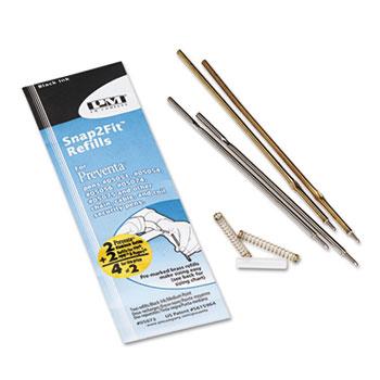 PM Company® Refill for Preventa, MMF Kable & Sentry Counter Pens, Medium Pt, Black, 2/Pack